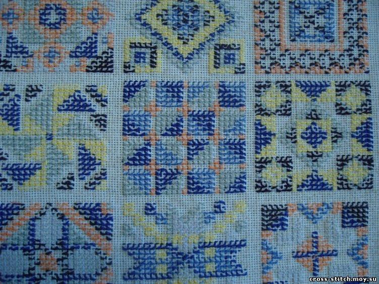 Схема вышивки крестом крупный план
